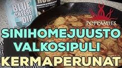 Sinihomejuusto-valkosipuli-kermaperunat - Poppamies resepti