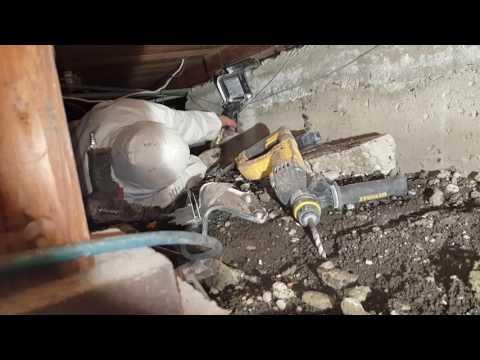 Earthquake Brace and bolt installation simpson ufp