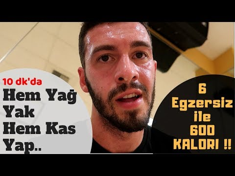 EN ÇOK YAĞ YAKAN 6 EGZERSİZ   Ev'de DEHŞET Antrenman !!