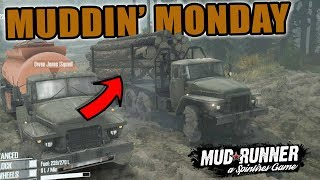 EPIC DELIVERY FAIL | MUDDING MONDAY | MUD RUNNER | SPIN TIRES