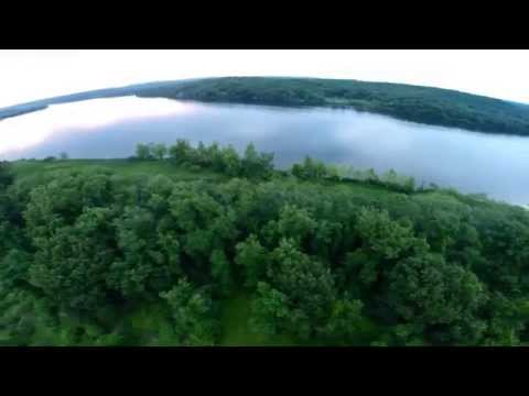 Drone Flight Connecticut River, Brewers Deep River Marina,  Eustatia Island