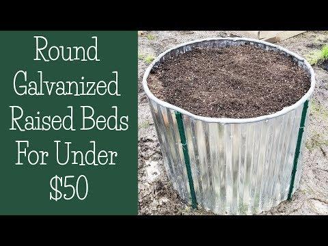 Building Round Galvanized Raised Beds for Under $50