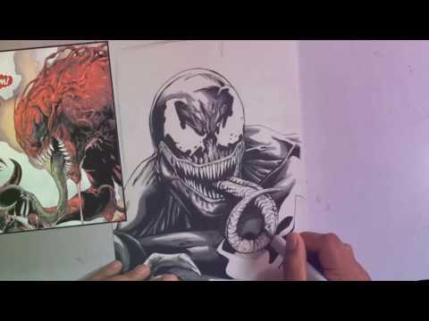 How to Start drawing Anti Venom SPYDERMAN NGƯỜI NHỆN