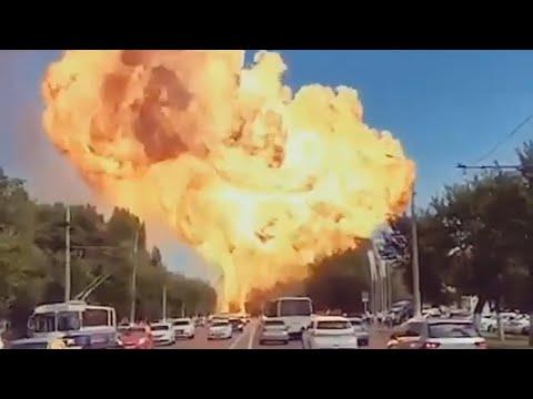 Взрыв в Волгограде. Взорвалась газовая заправка. (5 видео)