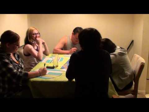 Playing Balderdash with my kids.