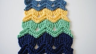 How to Crochet the Vintage Fan Ripple Stitchl: Beginner Friendly Tutorial