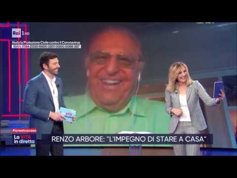 A casa dei personaggi della TV - Renzo Arbore - La vita in diretta 23/03/2020