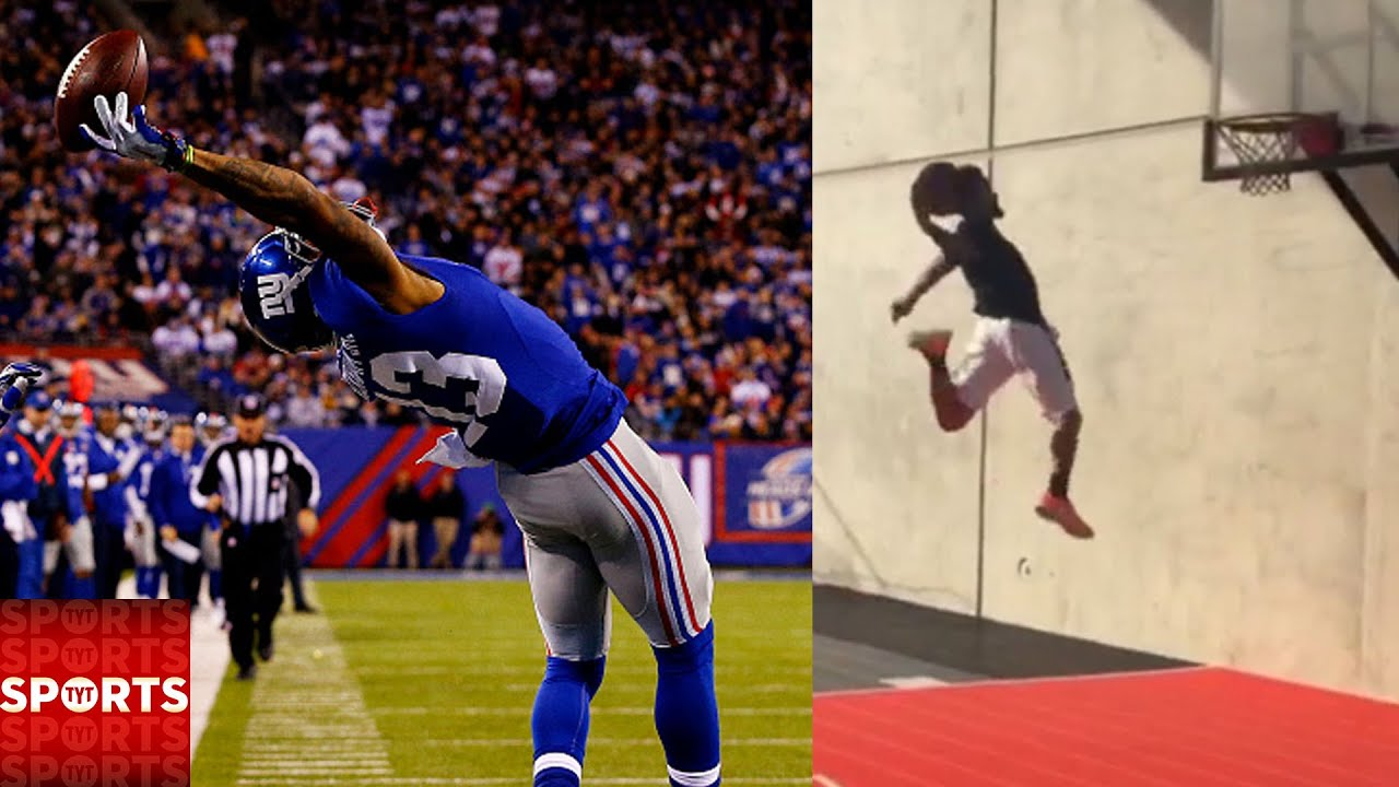 Odell Beckham Jr. Crazy DUNK! | Who Was the Greatest Two-Sport Athlete