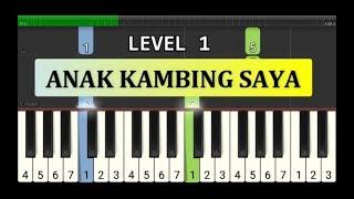 melodi piano anak kambing saya - tutorial level 1 - lagu daerah nusantara tradisional