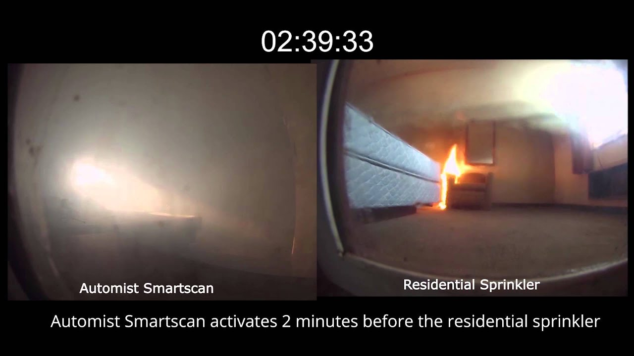 Automist smartscan fire protection for the home - Introducing Automist Innovative Watermist Fire Sprinklers How Does Automist Smartscan Compare To A Residential Sprinkler