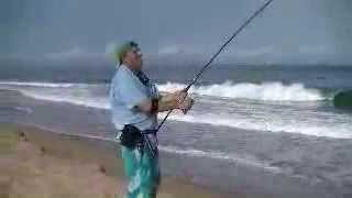BIGGEST ROOSTER FISH CAUGHT FROM SHORE  PART 1