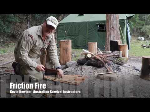 Bow Drill- Friction Fire in 6 seconds