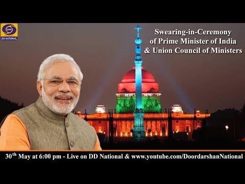 Swearing-in-Ceremony of Narendra Modi as Prime Minister of India - LIVE from  Rashtrapati Bhavan