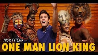 Nick Pitera One Man Tribute to Disney's The Lion King on Broadway
