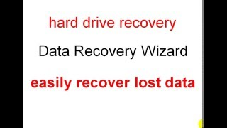 hard drive recovery - Data Recovery Wizard - easily recover lost data.
