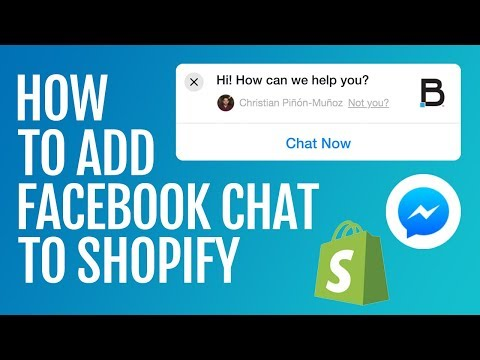 How To Add Facebook Chat To Shopify [UPDATED - JULY 2018]