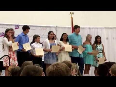 03 BAMS Berkley Accelerated Middle School 8th Grade 2016 Graduation Participation Awards A thru B