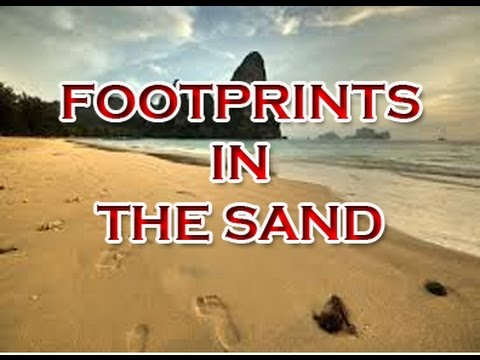 Footprints In The Sand Inspirational Quote Video Youtube