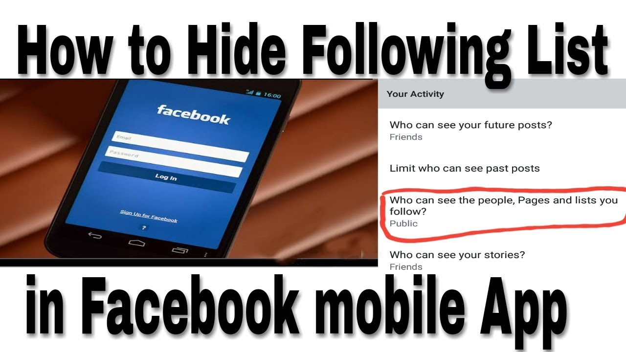 How to hide facebook following list in Facebook mobile app - trick latest  2019