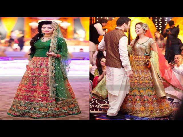 Trendy Mehndi Dress Design Stylish Collection 2018-19 #weddingdress #bridal #dressdesign