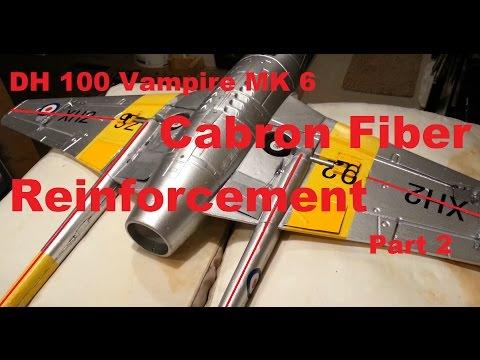 Hobbyking - DH 100 Vampire MK 6 - Carbon Fiber Reinforcement - Part 2