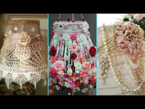 ❤ DIY Shabby Chic Style Lampshade decor Ideas ❤| Home decor & Interior design | Flamingo Mango