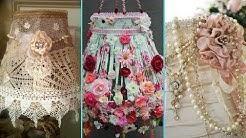 ❤ DIY Shabby Chic Style Lampshade decor Ideas ❤| Home decor & Interior design | Flamingo Mango