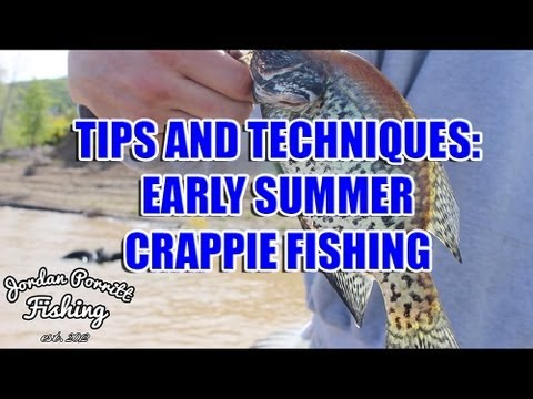 Early Summer Crappie Fishing Tips
