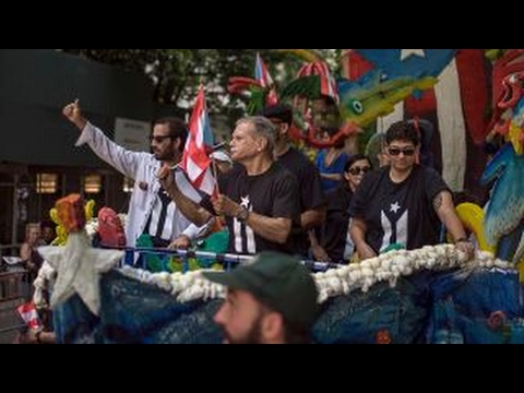 Puerto Rican Day parade draws supporters and protesters