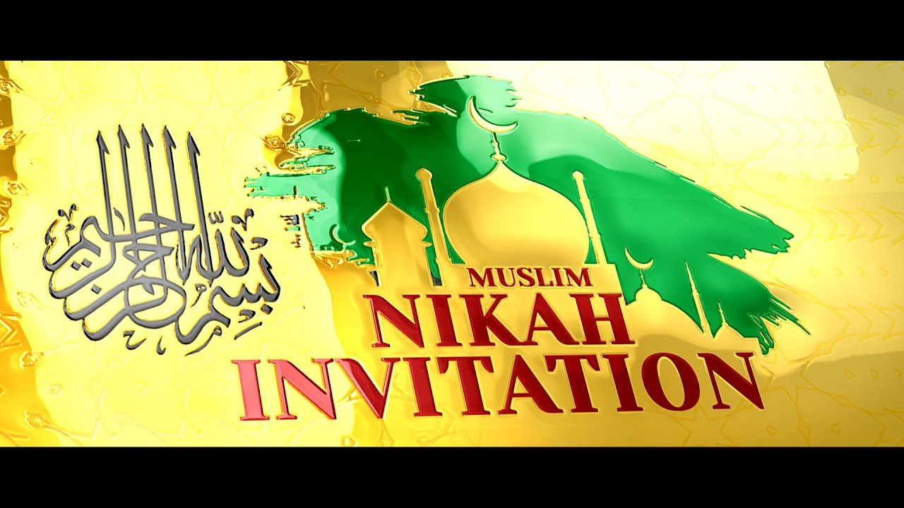Beautiful Indian Muslim Wedding Digital Invitation Video Classy - Nikkah invitation template