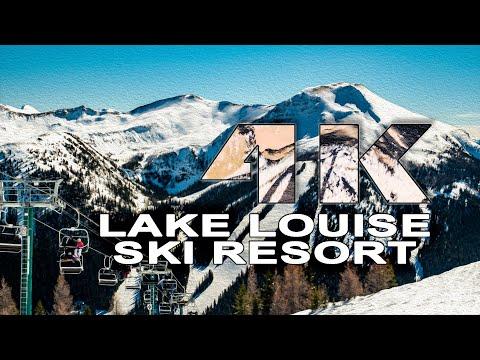 Lake Louise Tiefschnee und Sonne