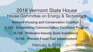 VT State House - Alternative Energy Issues