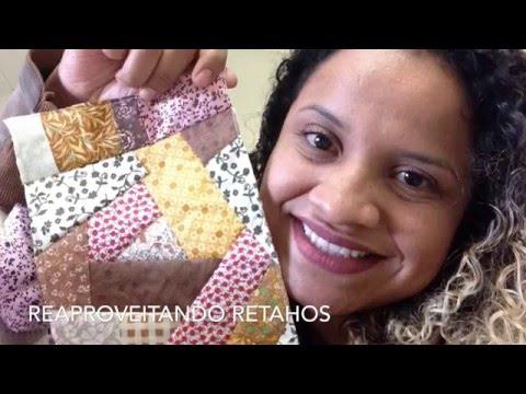 COMO REAPROVEITAR RETALHOS| CRAZY PATCHWORK | ATELIE FERZOCA