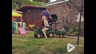 Kid tractor cart fail || Viral Video UK