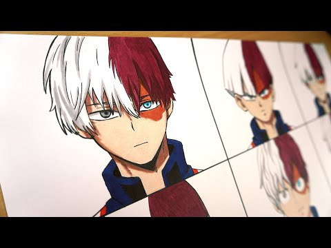Drawing Todoroki Shoto in 9 different anime styles