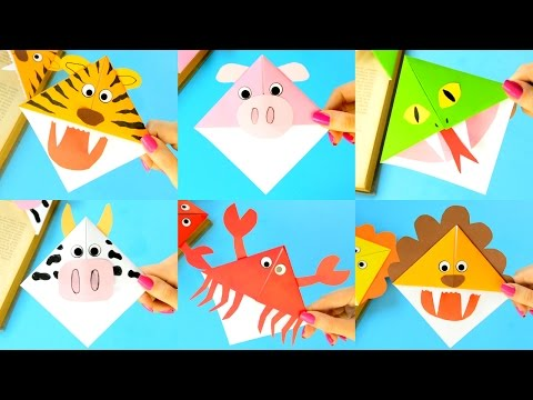 10 Animal Corner Bookmarks - how to make and ideas for kids