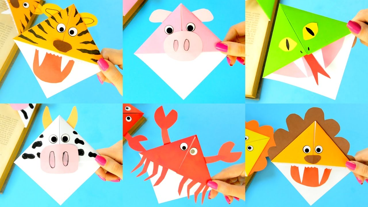 10 Animal Corner Bookmarks How To Make And Ideas For Kids Youtube