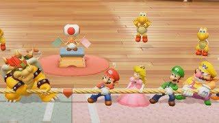 Super Mario Party - Mario vs Peach vs Bowser vs Daisy| Cartoons Mee
