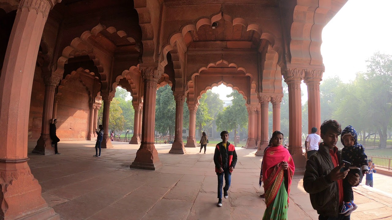 Red Fort, The Diwan-i-Aam audience hall, New Delhi, India