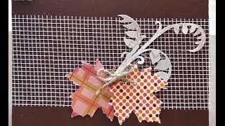 Simple Fall Handmade Table Placecard