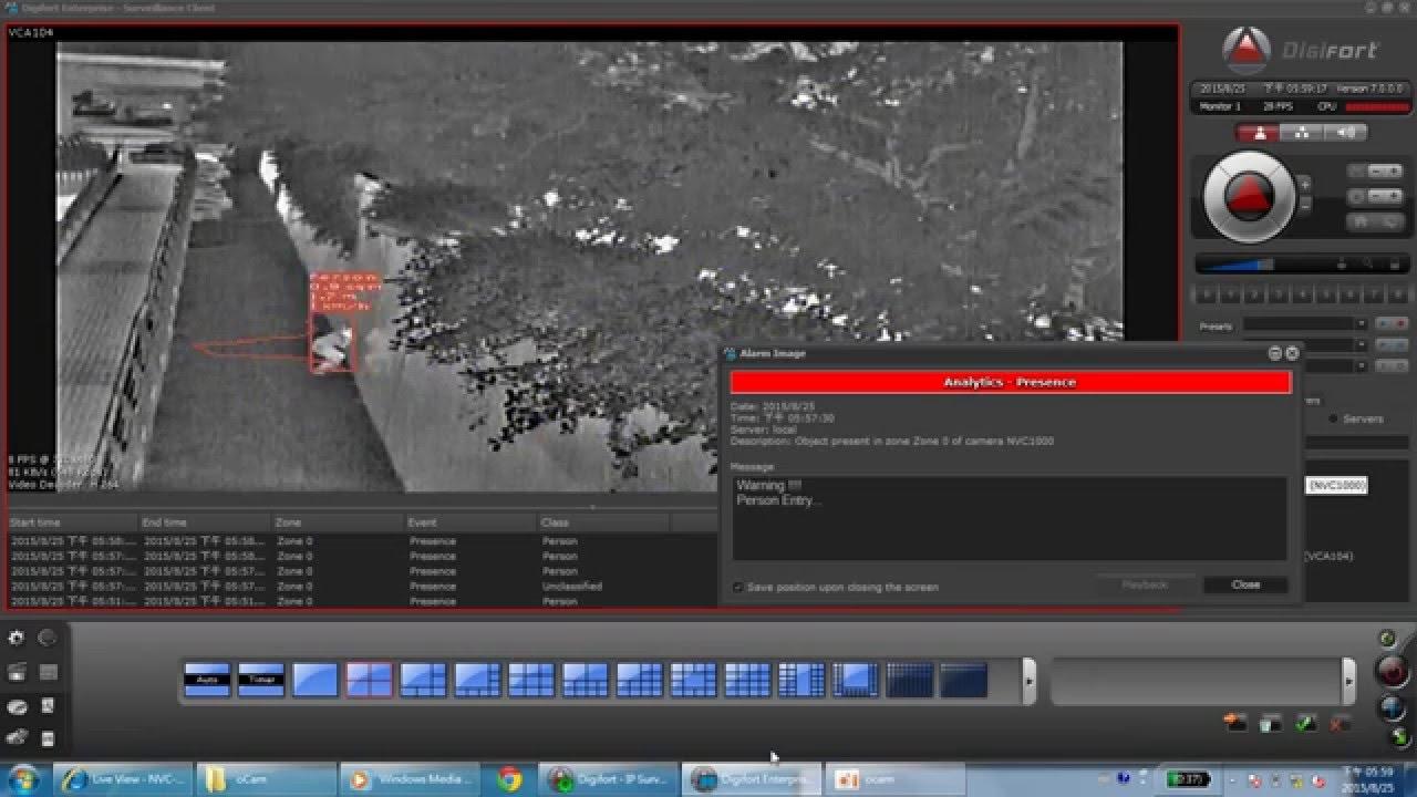 電子圍籬系統--熱感攝影+IVS影像分析系統 - YouTube