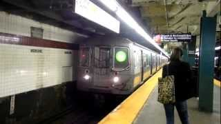 New York City Subway: R-68A on (G) & R-160B on (F) @ Church Avenue