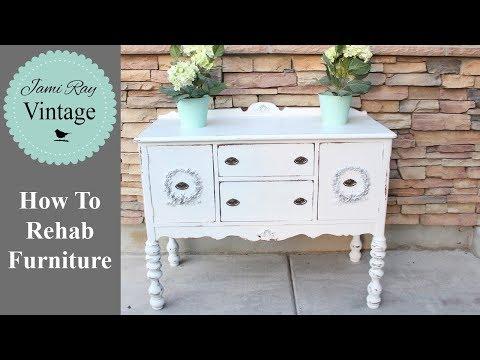 How To Rehab Furniture   Furniture Appliqués   Farmhouse Buffet