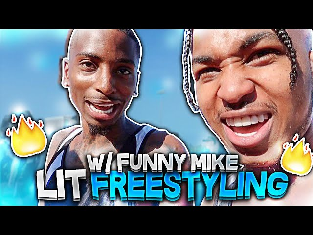 Freestyling With FunnyMike At Logan Paul Track Event!! **Hilarious**