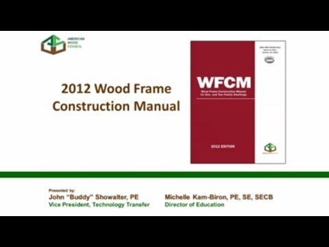 std315 2012 wfcm wood frame construction manual significant changes youtube - Wood Frame Construction Manual