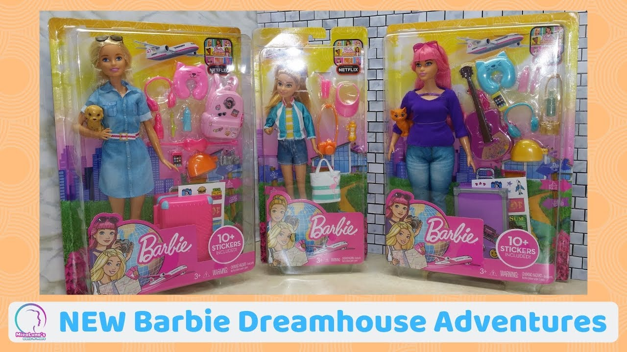 Barbie Travel Doll and Accessories Playset