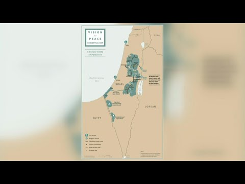 White House Releases Map Of Proposed Israeli, Palestinian State Borders   AFP
