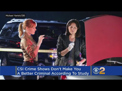Study: 'CSI Effect' On TV Not Making Better Criminals