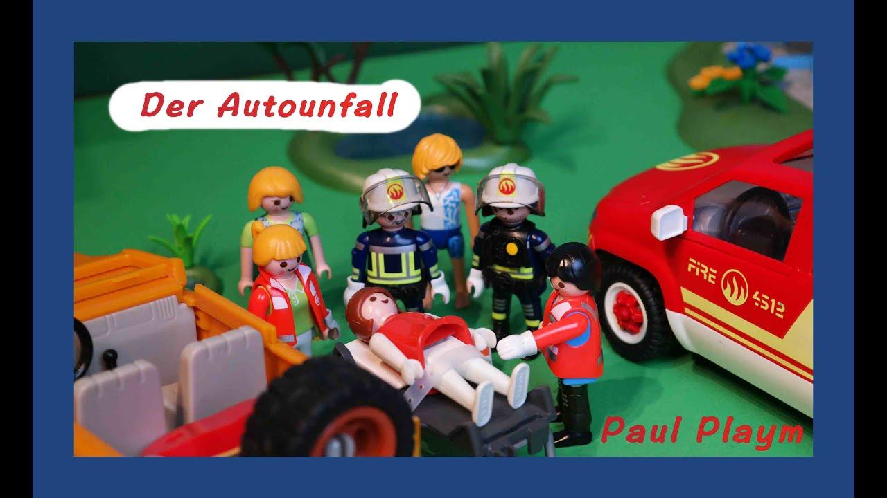 playmobil film deutsch feuerwehr der autounfall von paul. Black Bedroom Furniture Sets. Home Design Ideas
