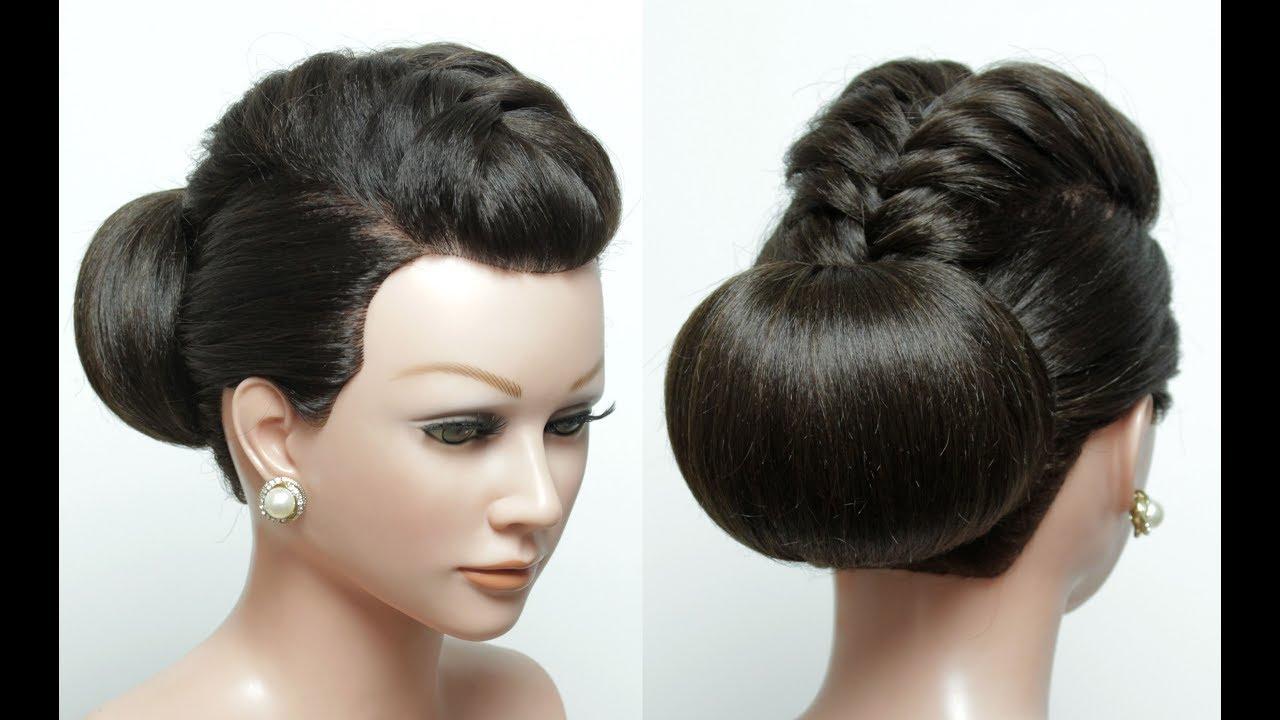 Bridal  hairstyle  for long hair  tutorial Wedding  updo  Bun